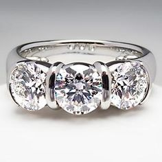 Tiffany Co Etoile Three Stone Diamond Ring