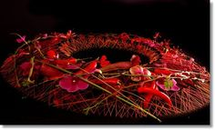 Wreath with hot chilies, hot colours, hot choice of materials and hot design ~ Ulrich Stelzer