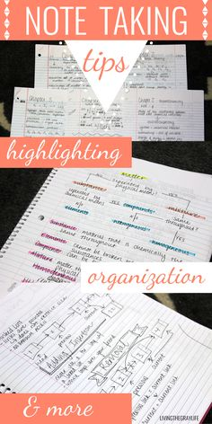 College Note Taking TIPS // highlighting, organization, and more More