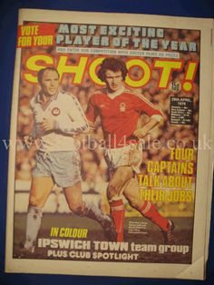 Manchester United Old Trafford, Ipswich Town, Vintage Football, Magazine Articles, Magazines, Competition, Soccer, The Unit, Baseball Cards