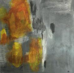 """JAG artiste peintre, Galerie Artêria Bromont. Acrylique sur toile 30""""x30""""."""