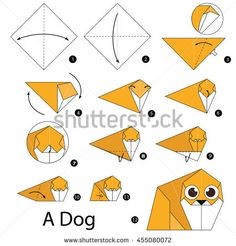 Find Step By Step Instructions How Make stock images in HD and millions of other royalty-free stock photos, illustrations and vectors in the Shutterstock collection. Thousands of new, high-quality pictures added every day. How To Make Origami, Origami Easy, Royalty Free Images, Royalty Free Stock Photos, Step By Step Instructions, Arts And Crafts, Dog, Cool Stuff, Illustration