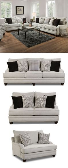 This sofa is the queen of its collection. It showcases a traditional style with t-cushions, plush back cushions, and pleated arms. The turned legs add more detail to the piece while the accent pillows bring neutral (easy-to-match) hues to the ensemble. Use this piece as an accent or with other items from its coordinating collection. The Griffin Collection by Corinthian at Great American Home Store in the Memphis, TN, Southaven, MS area. #shopgahs #sofa #loveseat #livingroom #familyroom