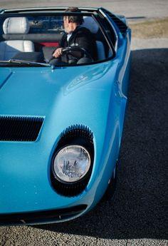 Lamborghini Miura - love the blue!