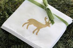 DIY -  Christmas Hand Towels using Martha Stewart multi-surface metallic Paint - Full Tutorial
