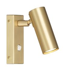 Puck Simple Wall Lamp, Brass, Örsjö Belysning