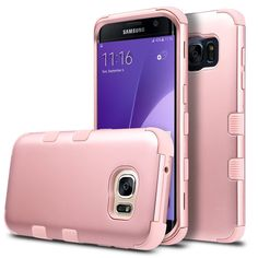 Amazon.com: S7 Edge Case,Galaxy S7 edge Case, ULAK 3in1 Thin Hybrid Shock Absorbing Resist Hard PC Case & Silicone inner Protective Cover for Samsung Galaxy S7 edge (Rose gold +zebra): Cell Phones & Accessories
