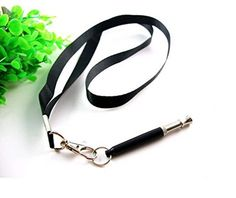 2Pcs Dog Whistle Training Deterrent Stop Barking Whistle with Lanyard Strap Adjustable Pitch to Stop Barking black * Continue to the product at the image link.
