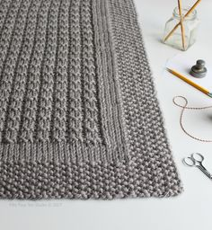 """The name for the Over the Rooftops blanket knitting pattern is inspired by the words in """"Step in Time""""…a song from one of my favorite movies Mary Poppins. Read more about this pattern on my blog."""