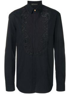 VERSACE BLACK. #versace #cloth # Versace Men, Gianni Versace, Black Cotton, Baroque, Mens Fashion, Long Sleeve, Mens Tops, Shirts, Shopping