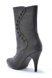 awesome Steampunk or Ruth Victorian Boots (Black) Adult Size 7