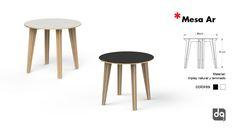 Mesa redonda para comedor, fabricada en triplay, venta para casa o negocio