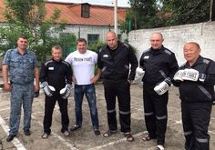 Prison Fight partner Alexander Sapin with new inmate boxer and trainers in Rostov Prison, Russia. International Teams, Boxing, Mma, Martial Arts, Prison, Trainers, Russia, News, Tennis Sneakers