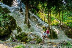 Chiang Mai's Sticky Waterfalls or Bua Tong, is a one of a kind place. Where else can you easily walk straight up a rushing waterfall with full confidence?