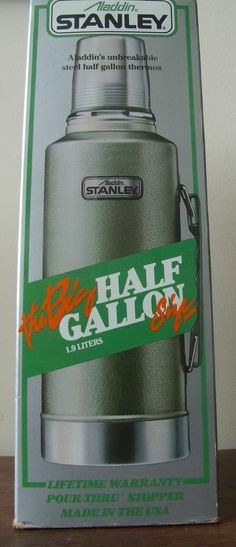 Vintage 1980 Stanley Aladdin Thermos Half Gallon 2 Quart 1.9 Liters A-945DH NIB Stanley Thermos, Coolers, Camping, Ebay, Vintage, Campsite, Vintage Comics, Campers