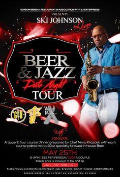 We kicking the tour off May 25th!! Get you Tickets Today!! @gordonbierschdc @skijohnsonlive @dinner @datenighttour https://www.eventbrite.com/e/beer-jazz-brewers-dinner-tickets-33684098044 #skijohnsonlive #gordonbiersch #tickets #beer #ladies #datenight #dinner #Jazz #tour #saxophone #love #skijohnsonmusic #letsgo #selfies  #awesomeness  #skijohnsonenterprises #photooftheday #amazing #followme #picoftheday #cute #instadaily #look #like #instagood #bestoftheday #smile #style #happy #fun