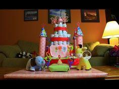 Princess Castle Diaper Cake (How To Make) ~ Oh my, so cute!