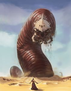Sandworm - size for Bigger sandworm, and general look for both with a different colour Small: Green-Gray-ish Big: Gray