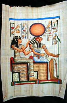 Isis with her son Horus, in some stories Horus is said to be the reincarnation of her husband\brother Osiris...therefore Horus is a triple godhead (brother\lover\son)