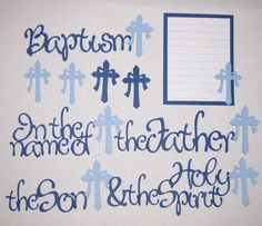 BAPTISM Scrapbook Border Set Page Layout / Die by easyscrapbooking, $7.99