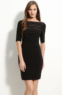 Adrianna Papell Pleated Illusion Sheath Dress available at #Nordstrom