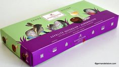 "The ""Niederegger Liqueur Filled Easter Eggs"" score with intense fillings. You can enjoy these delicious chocolate eggs from fine milk or dark chocolate with a delicious, liquid liqueur core in three different varieties. Milka Chocolate, Easter Chocolate, Easter Candy, Easter Eggs, Pocket Coffee, Pear Brandy, Cherry Liqueur, Hazelnut Praline, Fruit Gums"