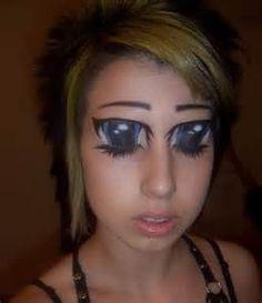 Dragon Tribal Tattoos On Back Actress Women - Tattoo Images Anime Eye Makeup, Anime Eyes, Skin Makeup, Cartoon Makeup, Freaky Makeup, Manga Eyes, Funny Makeup, Awesome Makeup, Weird Tattoos