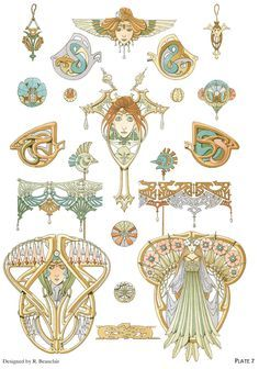 ART NOUVEAU JEWELRY DESIGNS By: Rene Beauclair - Welcome to Dover Publications - Excerpt 3