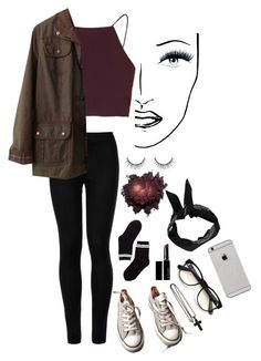 """untitled #3"" by misty-forests ❤ liked on Polyvore featuring Wolford, Topshop, Barbour, Converse, Monki, David Yurman, Witchery, Wildfox, Boohoo and Black Magic Lashes"