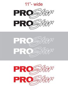 "2pcs 11"" PROSTAR Contour Vinyl Sticker Decal Graphic INTERNATIONAL SEMI TRUCK #Oracal"