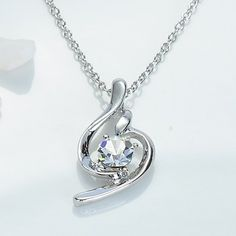Soft Crystal Pendant Necklace(Assorted Color) – USD $ 3.49