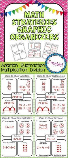 Math Graphic Organizers FREEBIE by roxie