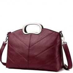 c6bf079e71 Wine Color Burgundy Long Strap Faux Leather Messenger Bag - High Street Whistles  Red Crossbody Bag