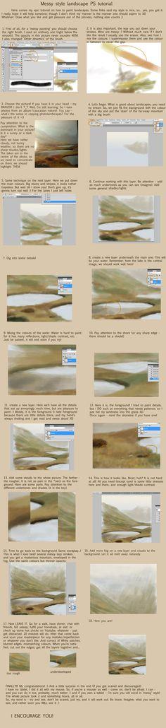 Messy landscape tutorial by BRAVINTO on DeviantArt