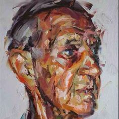 Old Man Paul Wright, Painting Tips, Great Artists, Cool Art, Illustration, Artwork, Image, Faces, Geometric Patterns