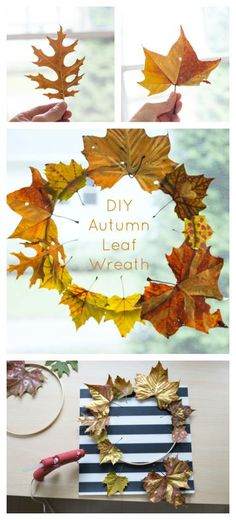 How to Make a Beautiful Autumn Leaf Wreath