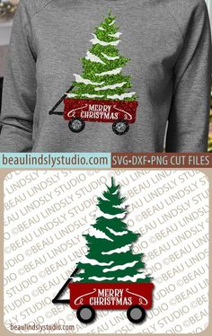 Wagon Christmas Tree SVG File Christmas SVG File For Cricut Projects Christmas Tree With Snow svg File For Silhouette Pattern dxf File Christmas Tree With Snow, Christmas Svg, Christmas Shirts, Cricut Projects Christmas, Christmas Tree Silhouette, Little Red Wagon, Tree Svg, Monogram Decal, Cricut Creations