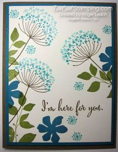 Sympathy Card Stamp-a-Stack: Sparkly Stampin' Up!  Summer Silhouettes