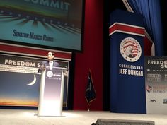 Thanks to Citizens United & Congressman Jeff Duncan for inviting me to speak  ‪#the SC Freedom Summit‬ today! Great to be in South Carolina