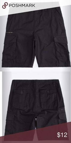 SUBCULTURE Mens Ripstop Cargo Shorts True to Size. Durable, roomy, lots of cargo pockets, good length, and they don't wrinkle. Perfect everyday go to shorts to have and to use. Dark Grey. Great condition Shorts Cargo