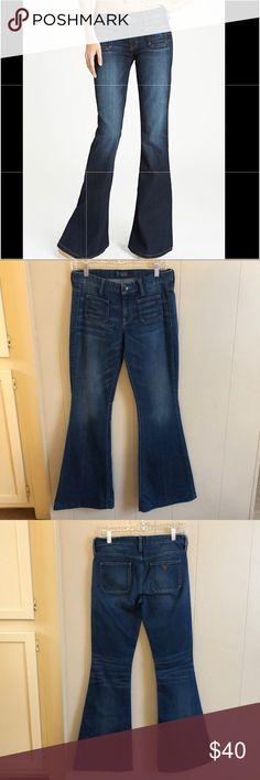 """Guess 70s Mid-rise Flare Jeans. Size 27. Waist - 15"""" Rise 4b5f931ee9691"""