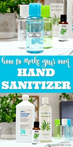 beauty tips Using hand sanitizer as a back up for washing your hands when soap and running water isn't available is a great way to kill germs and bacteria you may come in contact with. Homemade Cleaning Products, Cleaning Recipes, Natural Cleaning Products, Cleaning Hacks, Soap Recipes, Natural Products, Solution Hydro-alcoolique, Natural Hand Sanitizer, Home Made Hand Sanitizer