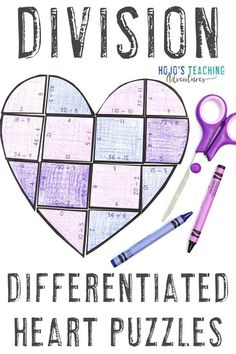 This DIVISION heart puzzle is a great way to help 3rd, 4th, or 5th grade upper elementary students celebrate grandpa, grandma, or another important adult this Grandparent's Day. You can turn this academic activity into a puzzle by gluing it to a sheet of construction paper. Great for the classroom or a project at home. Click through now to try this with your third, fourth, or fifth graders. #GrandparentsDay #UpperElementary Maths Puzzles, Math Activities, Practice Math Problems, Grandparents Day Activities, Reading Recovery, 5th Grade Classroom, Basic Math, Day Book, Special Education Teacher
