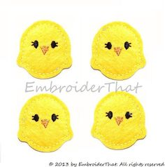 Hey, I found this really awesome Etsy listing at https://www.etsy.com/listing/117292578/baby-chick-applique-embellishments-hair