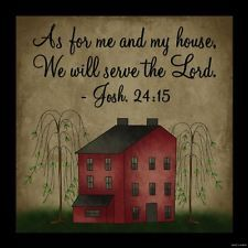 AS FOR ME & MY HOUSE SERVE THE LORD wood sign Primitive Country home decor