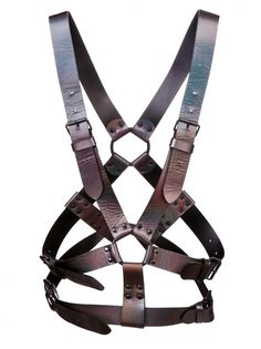 i love a harness. G.V.G.V. - Iridescent Leather Harness - GV1315003B MULTI - H. Lorenzo