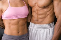 6-Pack defined: 1. (Business/Commerce) a package containing six units, esp six cans of beer    2. (Fitness) a set of highly developed abdominal muscles in a man  or woman.  If you want one, you have to put down the other!    Get off the couch!!