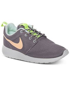 Nike Women's Roshe Run Casual Sneakers from Finish Line - Kids Finish Line Athletic Shoes - Macy's