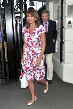 Carole Middleton - Arrivals at Wimbledon. June 29, 2011