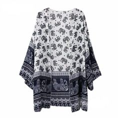 White Half Sleeve Tassel Chiffon Kimono | Kimonos, Sleeve and Half